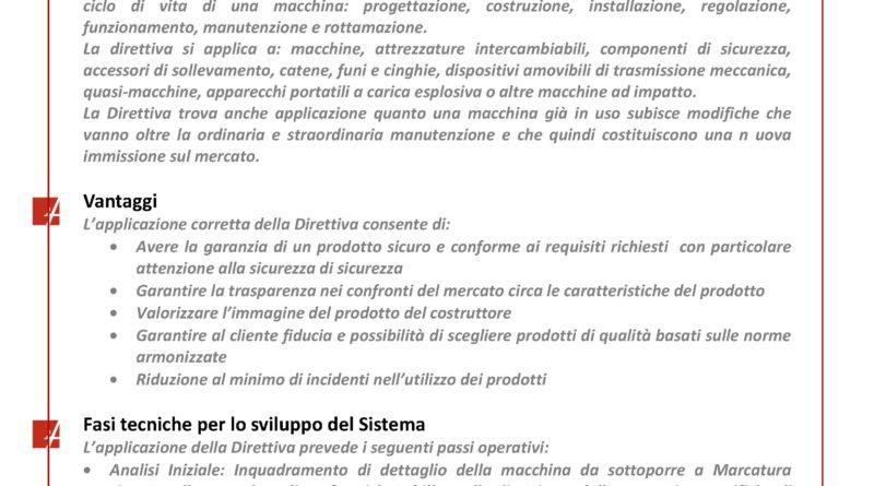 Marcatura CE macchine industriali