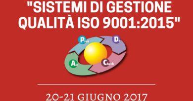 """Corso di formazione """"Sistemi di Gestione Qualità ISO 9001:2015"""""""